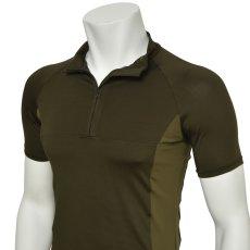 "Photo5: Mens Leotard, ""MUNAKATA"" Khaki, Fitted muscle zip-up T-shirts, Cool & Dry, UPF50+ (5)"