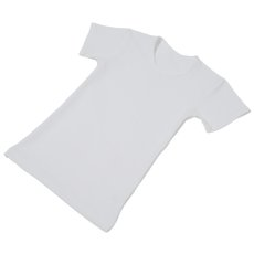 Photo2: Boys Leotard, 'Alberto' White,  Boy's stretch T-shirt, Cool & Dry, UPF50+ (2)