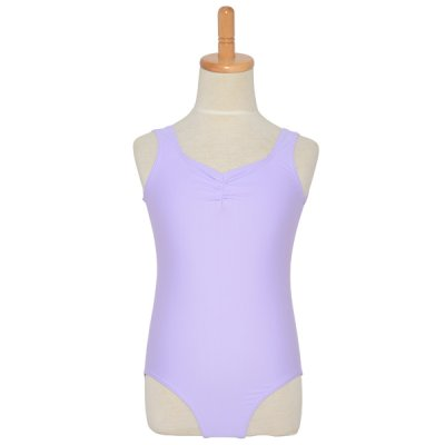 Photo1: Junior Kids Leotard, 'HIROMI'  Mint green,  Pinch gather in the neck. Cool & Dry, UPF50+