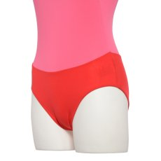 Photo5: Womens Leotard, 'Gabriela'  Pink,   1/5 Sleeve, A gradation, Cool & Dry, UPF50+ (5)