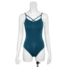"Photo12: Womens Leotard, 'YAMABUKI, Royal blue ""X"" cross on the front & back, Cool & Dry, UPF50+ (12)"