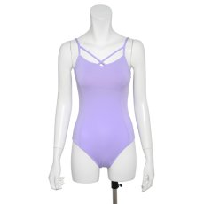 "Photo6: Womens Leotard, 'YAMABUKI, Royal blue ""X"" cross on the front & back, Cool & Dry, UPF50+ (6)"