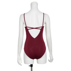 "Photo9: Womens Leotard, 'YAMABUKI, Royal blue ""X"" cross on the front & back, Cool & Dry, UPF50+ (9)"