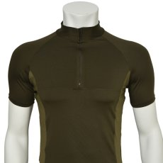 "Photo4: Mens Leotard, ""MUNAKATA"" Khaki, Fitted muscle zip-up T-shirts, Cool & Dry, UPF50+ (4)"