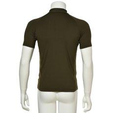 "Photo3: Mens Leotard, ""MUNAKATA"" Khaki, Fitted muscle zip-up T-shirts, Cool & Dry, UPF50+ (3)"