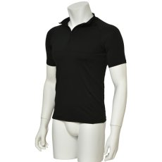 "Photo3: Mens Leotard, ""MUNAKATA"" Black, Fitted muscle zip-up T-shirts, Cool & Dry, UPF50+ (3)"