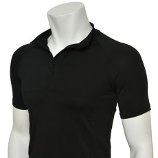 "Photo5: Mens Leotard, ""MUNAKATA"" Black, Fitted muscle zip-up T-shirts, Cool & Dry, UPF50+ (5)"