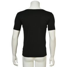 """Photo3: Mens Leotard, """"TOHDOH"""" Black,  Fitted muscle T-shirts V-neck, Cool & Dry, UPF50+ (3)"""
