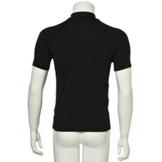 "Photo2: Mens Leotard, ""MUNAKATA"" Black, Fitted muscle zip-up T-shirts, Cool & Dry, UPF50+ (2)"