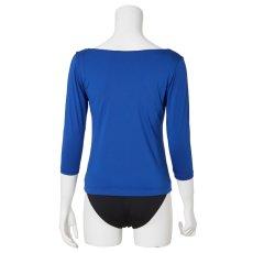 Photo3: 3/4 sleeve T-shirts, Royal blue (3)