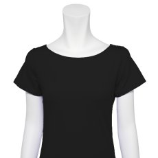 Photo5: Ballet Dance wear,  French sleeve T-shirts, Black (5)