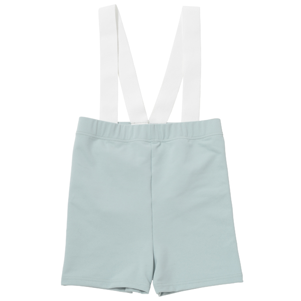 Photo1: Boys Leotard, 'Anthony' Mint green,  Boy's stretch Short pants with shoulder gum, Cool & Dry, UPF50+ (1)