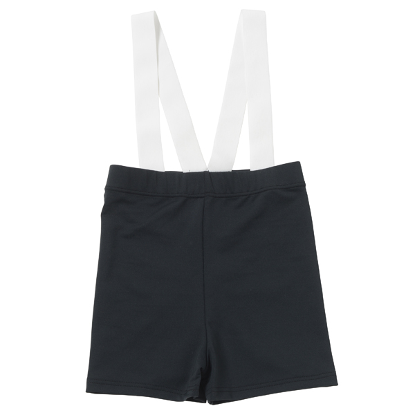 Photo1: Boys Leotard, 'Anthony' Black,  Boy's stretch Short pants with shoulder gum, Cool & Dry, UPF50+ (1)