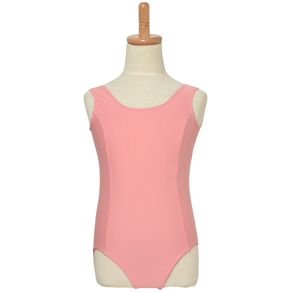 Photo1: Junior Kids Leotard, 'ANNIE' Pink, Princess line Not easy to be seen through. Cool & Dry, UPF50+ (1)