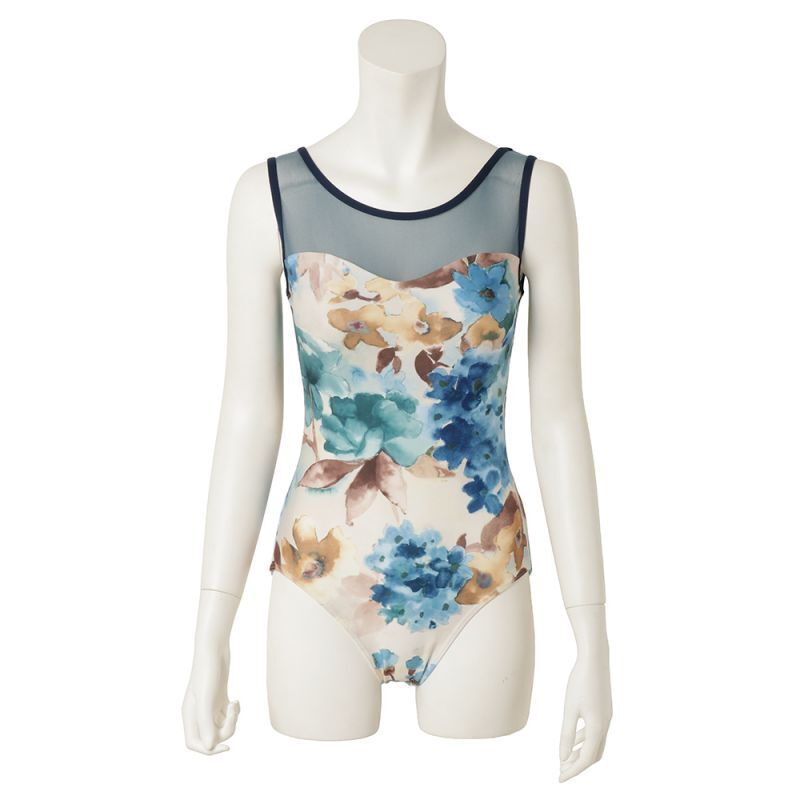 Photo1: 【About 10th.April on sale】Womens Leotard, 'SELINA-54608',  Sweet heart, Cool & Dry, UPF50+ (1)
