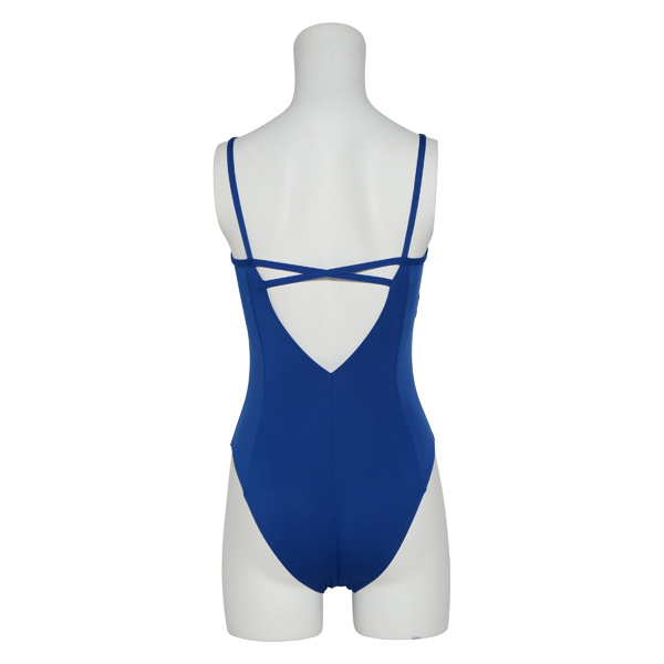 "Photo1: Womens Leotard, 'NOLICA'  Royal blue,  ""X"" cross on the back, Cool & Dry, UPF50+ (1)"