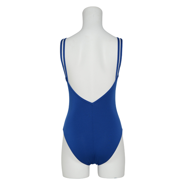 Photo1: Womens Leotard, 'AYAME' Royal Blue, Gathered along both hipbones, Cool & Dry, UPF50+ (1)
