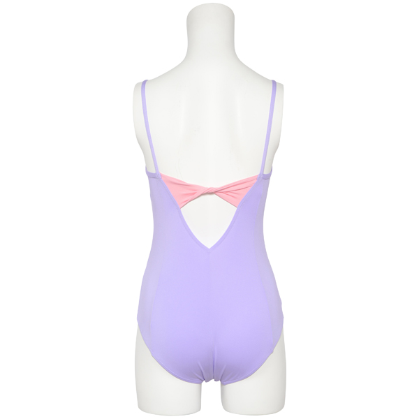 Photo1: Womens Leotard, 'Emiria'  Lavender,   Camisole,Ribbon on the back, Cool & Dry, UPF50+ (1)