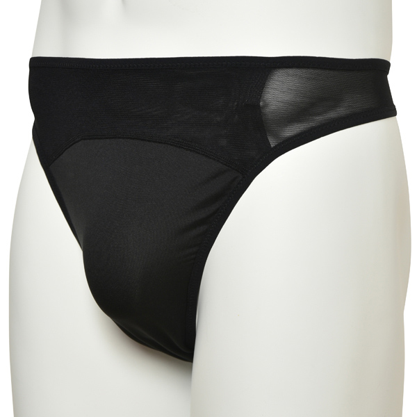 Photo1: Mens Leotard, An athletic supporter shorts, Black, Cup insertable, Cool & Dry, UPF50+ (1)