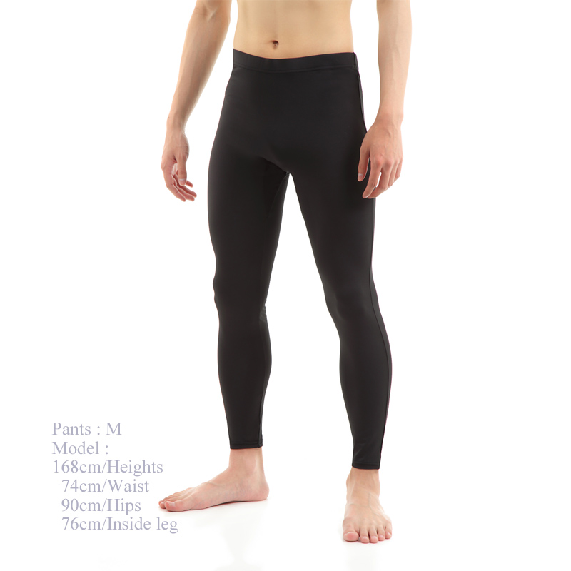Photo1: MENS, Leggings, Cool & Dry, UPF50+ (1)