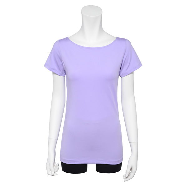 Photo1: Ballet Dance wear,  French sleeve T-shirts,  Lavender (1)