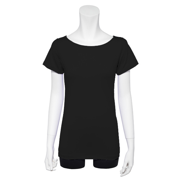 Photo1: Ballet Dance wear,  French sleeve T-shirts, Black (1)