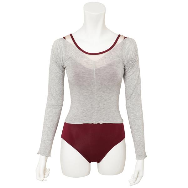 Photo1: Lyocell, Tights T-shirts/Heather light-gray, (1)